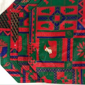 Set of 4 Christmas Vinyl Placemats